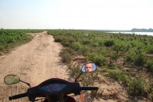 Driving on a Mekong Island