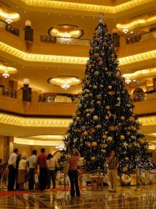 emirates palace hotel christmas tree