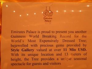 emirate palace world record
