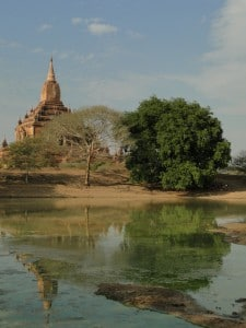 bagan temple reflection