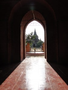 bagan temple doorway