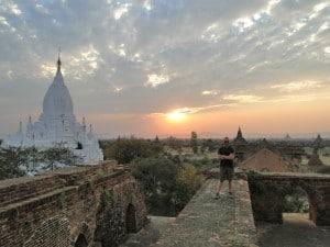 bagan monastery sunset