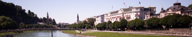 salzburg city center from bridge