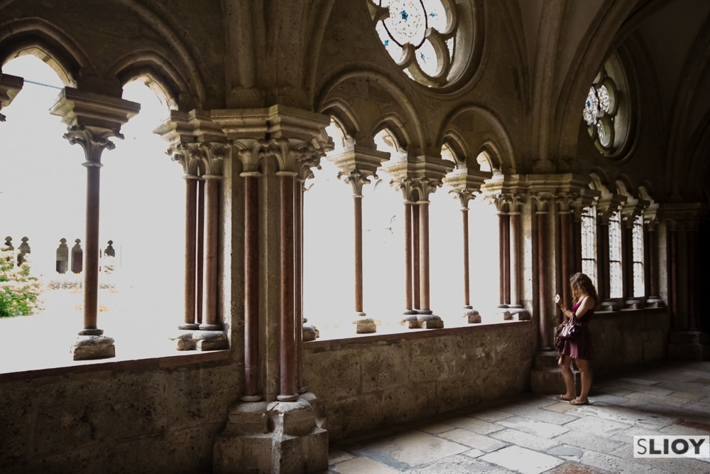 In the hallways of Heiligenkruz Abbey