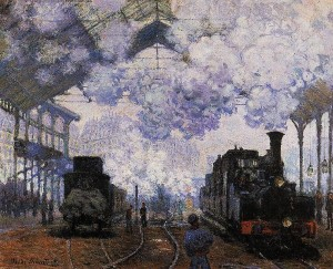 CLaude Monet's Gare Saint-Lazare, 1877.