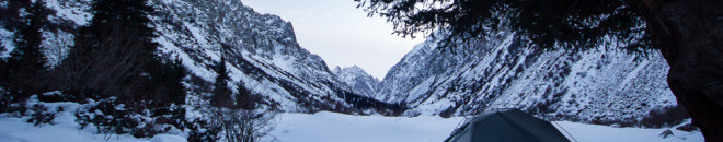 winter in kyrgyzstan: snow camping in ala-archa