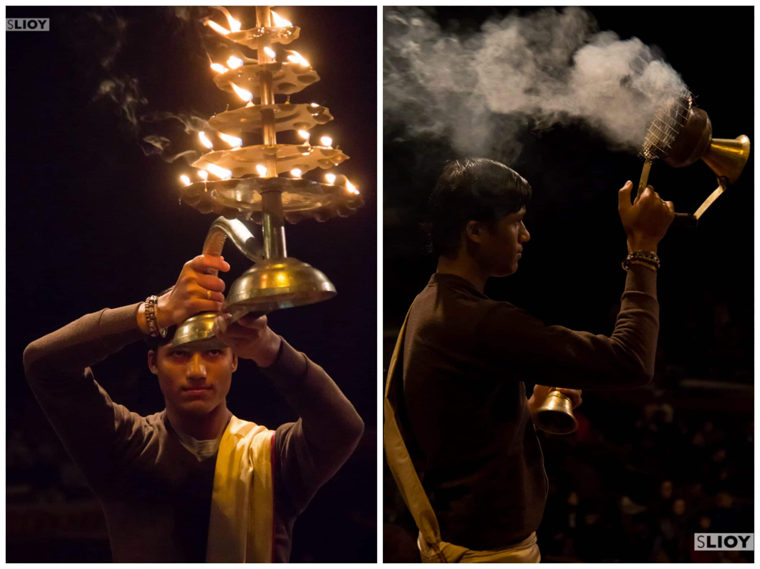 Varanasi aarti ceremony photography tips