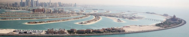 Atlantis and Palm Jumeirah from the sky