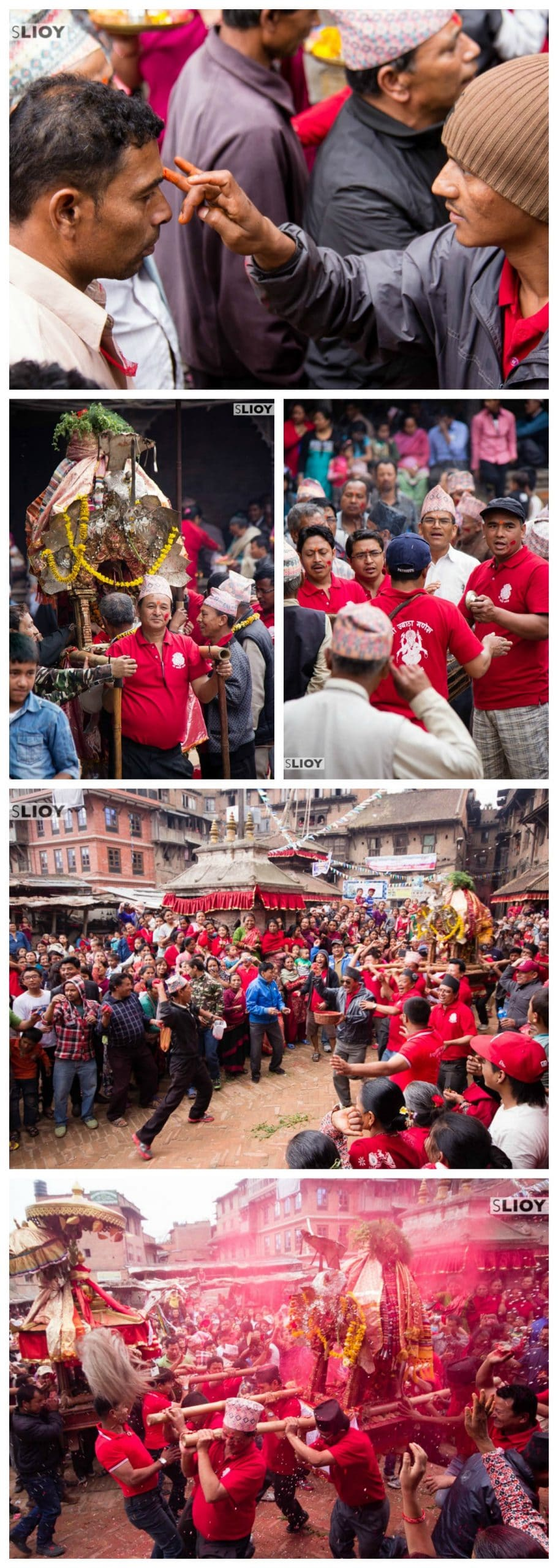 Devotions at the Bisket Jatra Festival in Bhaktapur