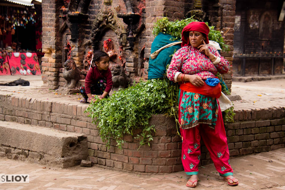 Spectators at Bisket Jatra Festival in Bhaktapur, Nepal.