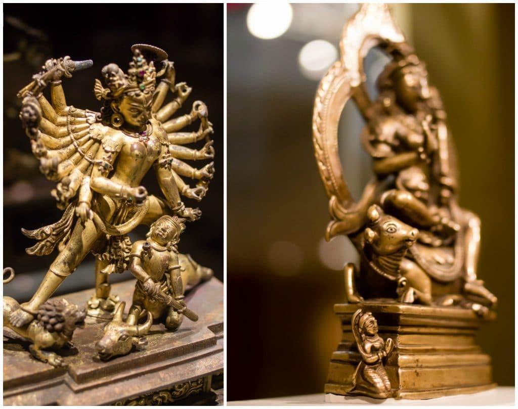 Rubin Museum Statue of Durga Defeating the Buffalo God