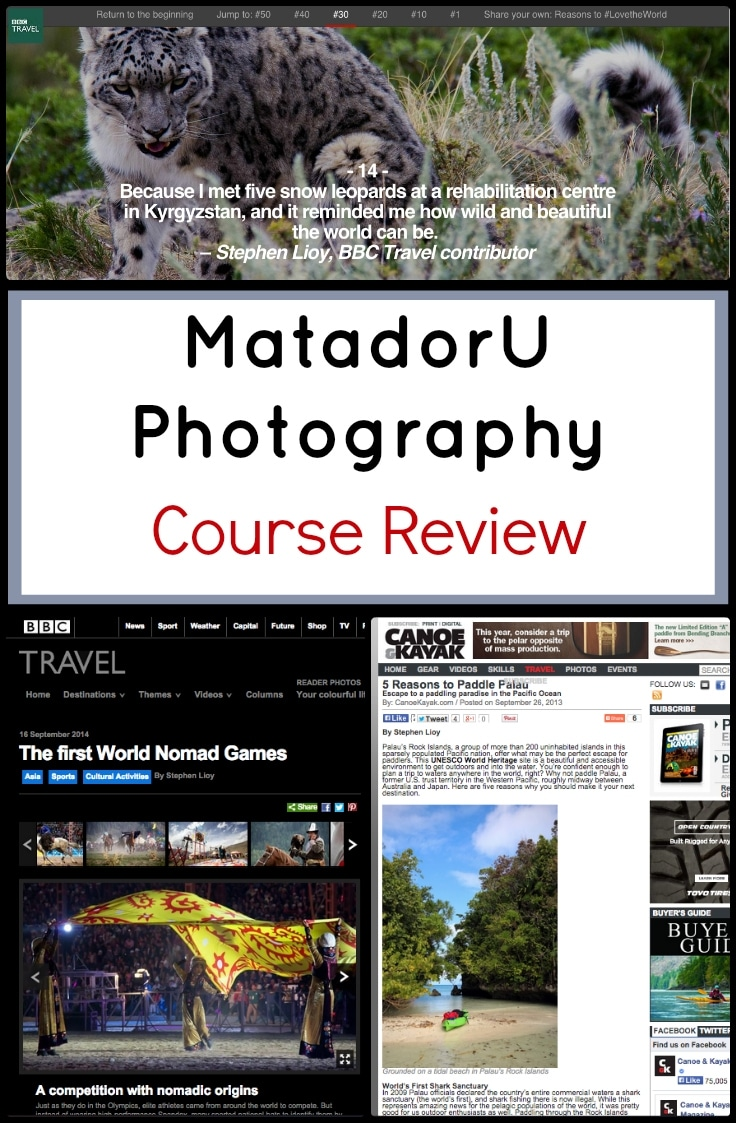 My MatU Photography Course Review, updated for the end of 2015, offers a few thoughts on the current value of the Matador University New Media school program as well as the newly pared off Marketplace program.