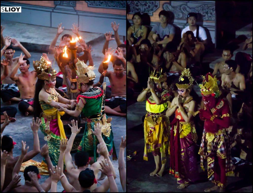 Sita and Rami in the Kecak Fire Dance at Uluwatu